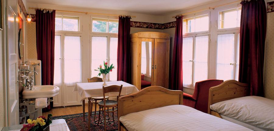 Hotel Falken, Wengen, Switzerland - standard bedroom with 2 beds